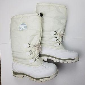 Sorel Snowlion Women's  White Snow Boots Sz 11